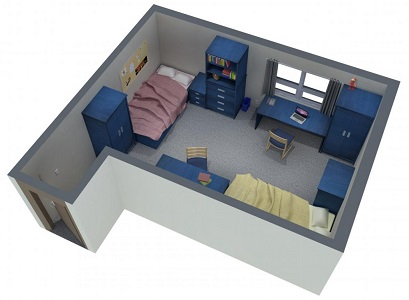 Layout of a traditional residence room - style 1