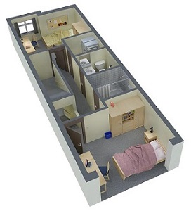 Layout of a townhouse room